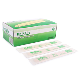 Dr. Kelly Wooden Tongue Depressor Sterile